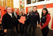 Renishaw makes presentation to Gloucester Rugby's education scheme