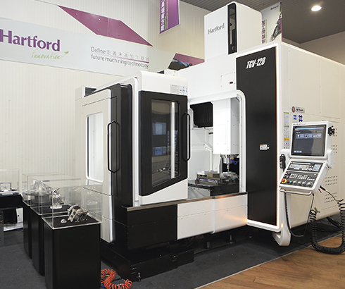 Hartford produces a complete range of medium to large-sized three-axis and five-axis CNC machines