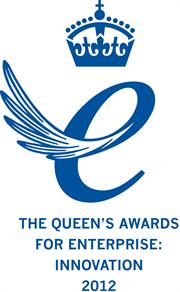 Queen's Award for Enterprise Logo 2012 Blau