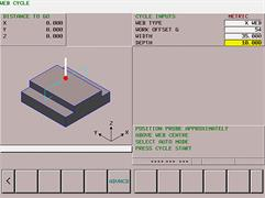 Web feature inspection: Fanuc GUI