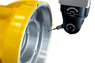 OPTiMUM™ diamond stylus scanning an aluminium Rotork pump housing